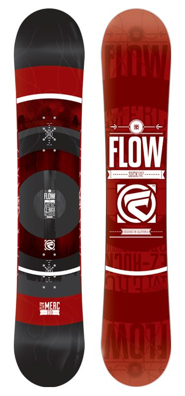 Merc Directional Rocker Snowboard by Flow Snowboards Mens Snowboarding Gear and Equipment