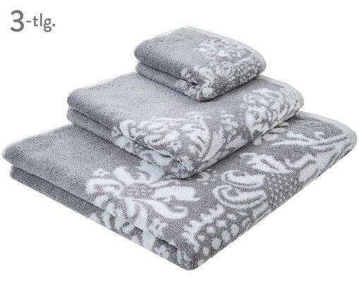 Entdecken Sie Wende-Handtuch-Set Hanna, 3-tlg. in Grau, Weiß jetzt bei >> WestwingNow. Lassen Sie sich von mjukis. inspirieren