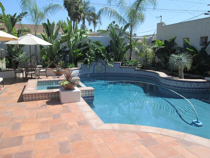 Spanish style pool areas and now i have this the for Pool area tiles