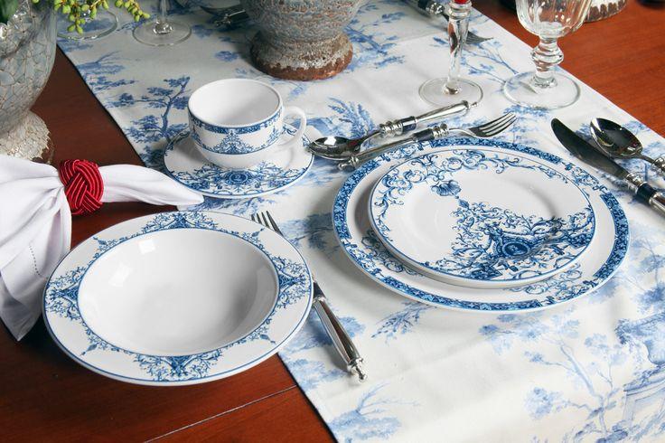 Gosta da combinação azul e branco até mesmo quando o assunto é mesa posta? Então você vai adorar a linha Lisboa da Porto Brasil! 💙