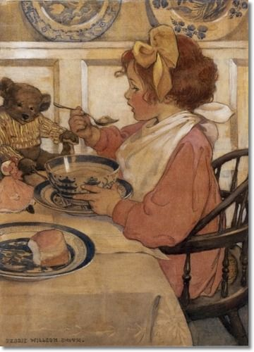 Jessie Willcox Smith - Then The Epicure 1908
