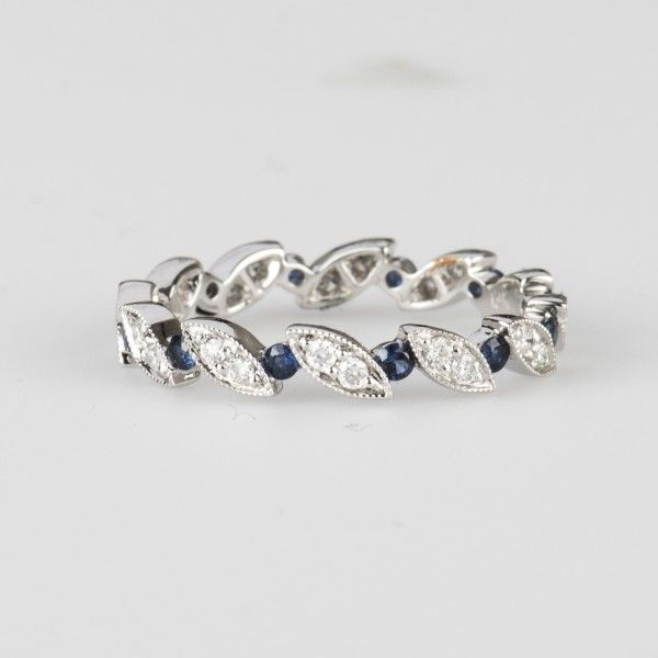 sapphire diamond eternity ring visit our website wwwjewelrydepothousotncom or call us eternity ringssapphire diamondwedding ringshouston - Wedding Rings Houston