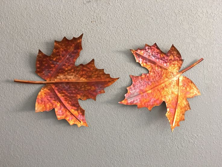Maple Leaf  - Copper Leaf   - Metal Maple Leaves - Home Decor  -  Wall Art Hanging - Maple Leaves by GarrettsMetalArt on Etsy https://www.etsy.com/listing/558694643/maple-leaf-copper-leaf-metal-maple