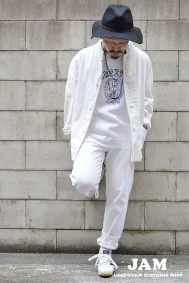 オールホワイト <春夏ファッション・メンズカバーオール>