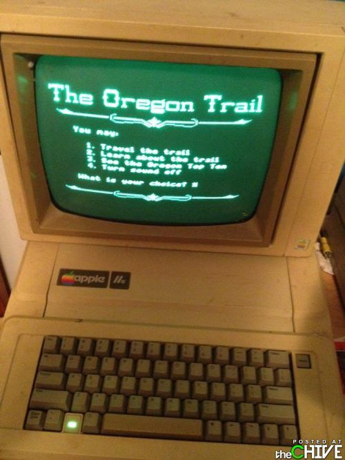 loved this in 5th grade! :-)Oregontrail, Old Schools, Middle Schools, Computers Labs, Remember This, Oldschool, Apples Computers, Oregon Trail, Elementary Schools
