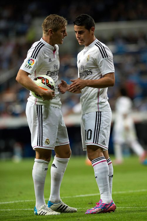 James Rodríguez y Toni Kroos - Real Madrid