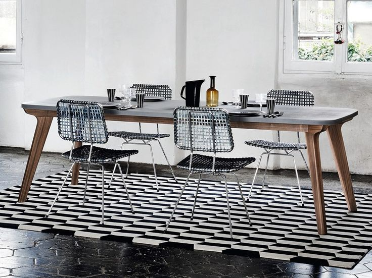 Rectangular dining table BRICK 233 Brick Collection by Gervasoni | design Paola Navone