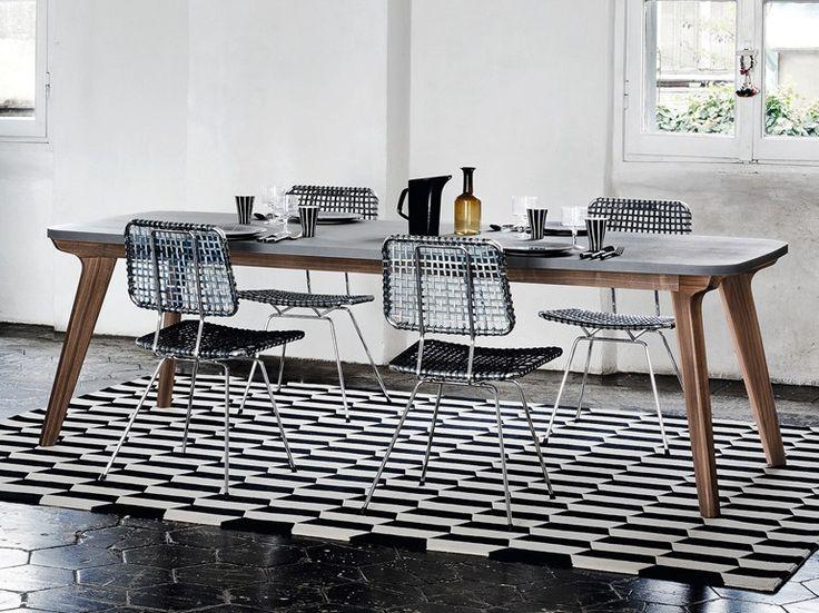 Tavolo da pranzo rettangolare BRICK 233 Collezione Brick by Gervasoni | design Paola Navone
