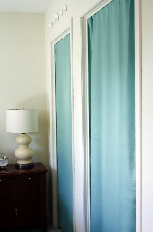 Best 25  Closet door curtains ideas on Pinterest | Curtain rod ...