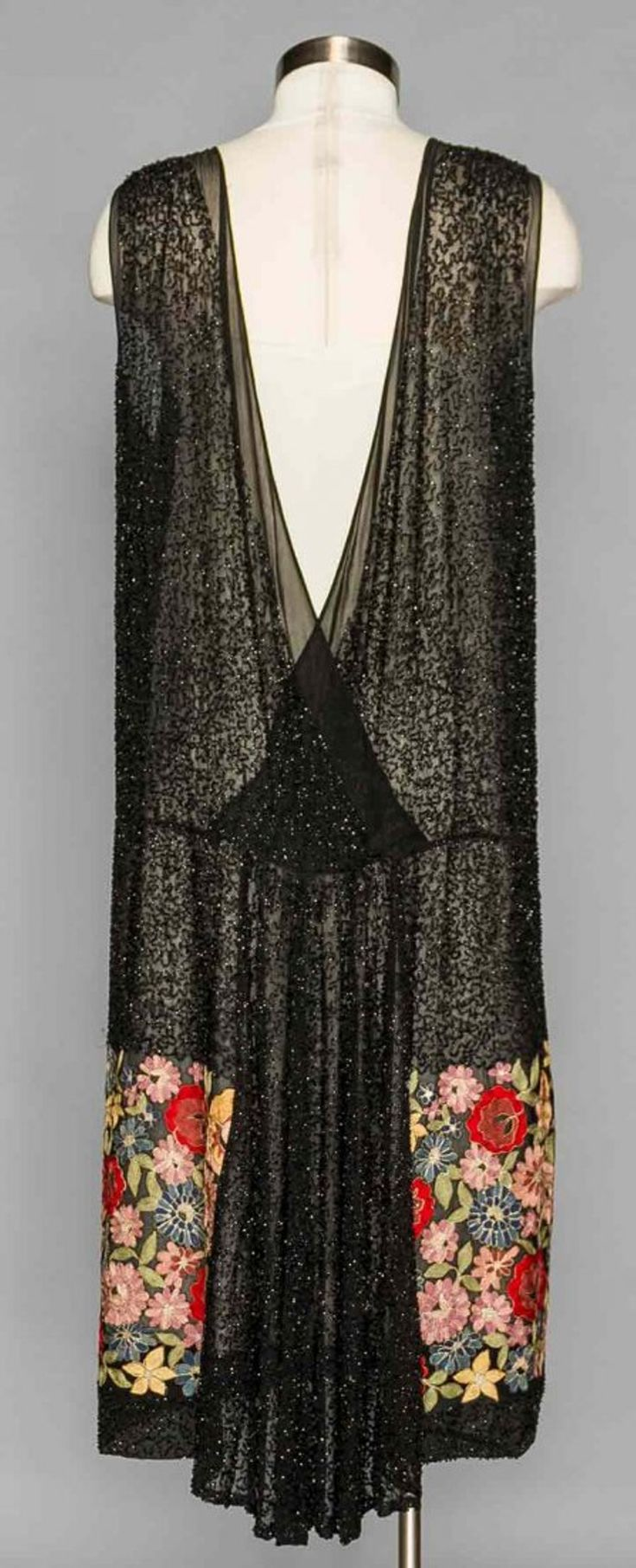 Lot: BEADED & EMBROIDERED PARTY DRESS, 1920s, Lot Number: 0249, Starting Bid: $200, Auctioneer: Augusta Auctions, Auction: SPECTACULAR MUSEUM SALE - COUTURE & VINTAGE, Date: April 20th, 2016 SAST