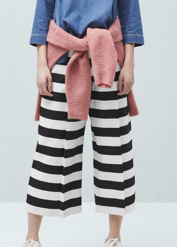 Cropped palazzo trousers - Trousers for Woman | MANGO