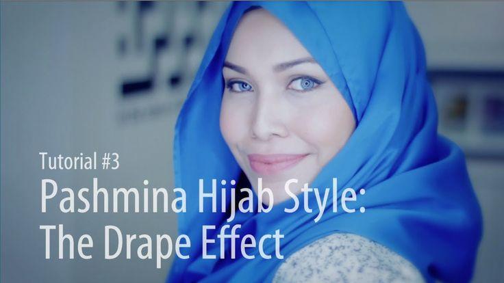 [Adlina Anis] Hijab Tutorial 3   The Drape Effect - simple