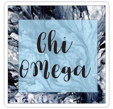 Marbled Chi Omega by adejames