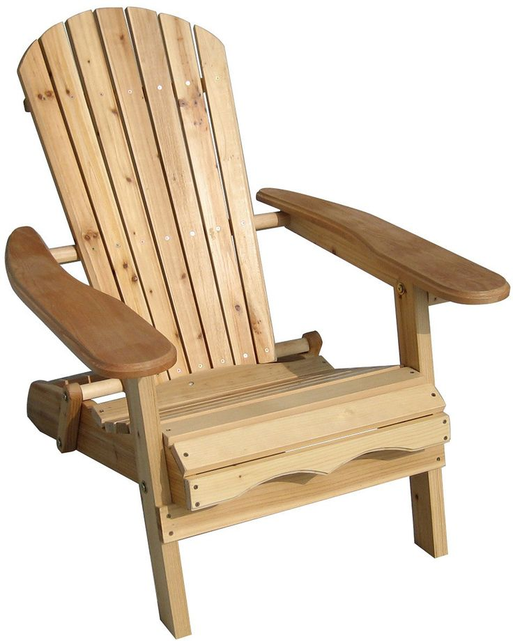 Foldable Cedar Adirondack Chair Kit