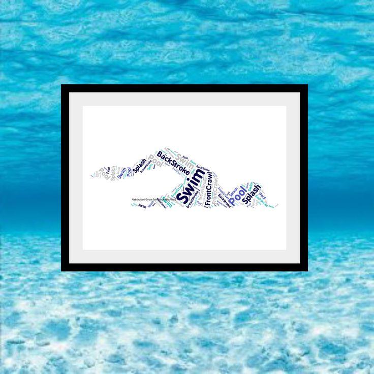 Swimmer Personalised Print, Swimmer Word Art, Swim Team Gift, Swimmer Word Collage, Gift For Swimmer, Swim Themed Gift, Word Art Print by DomesticGoddessCraft on Etsy https://www.etsy.com/uk/listing/455742396/swimmer-personalised-print-swimmer-word