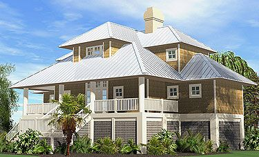 25 best ideas about hip roof design on pinterest deck for Piling foundation house plans