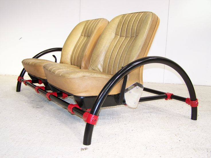 Vintage Rover Car Seats On Kee Klamps Scaffold Frame Two Seater Sofa Top  Gear Ron Arad Styling Interior Piece | Design U0026 Form | Pinterest | Ron Arad  And ...