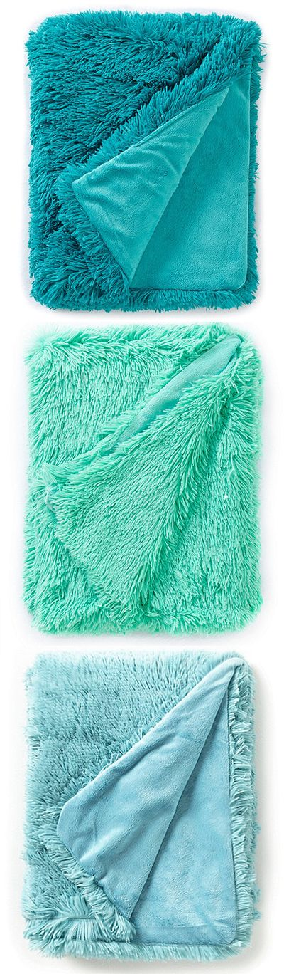 From Studio D, this Shagalicious Throw is made from a lightweight fabric with amazing softness and comfort, perfect for year-round use. $39. Buy here.