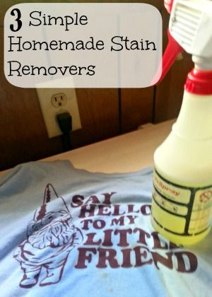 These homemade stain removers are easy and inexpensive to make and can easily replace the store-bought chemical-laden versions!