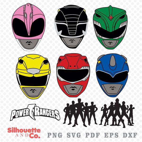 Power Rangers Svg Dxf Power Rangers Clipart Power