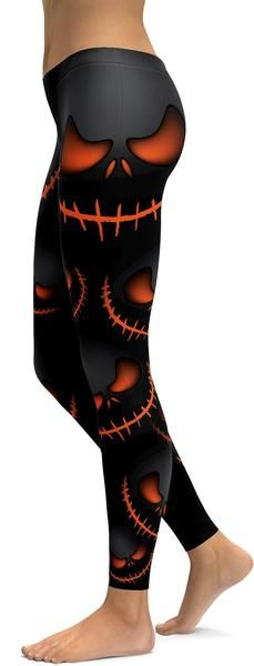 Halloween Evil Pumpkin Grin Leggings