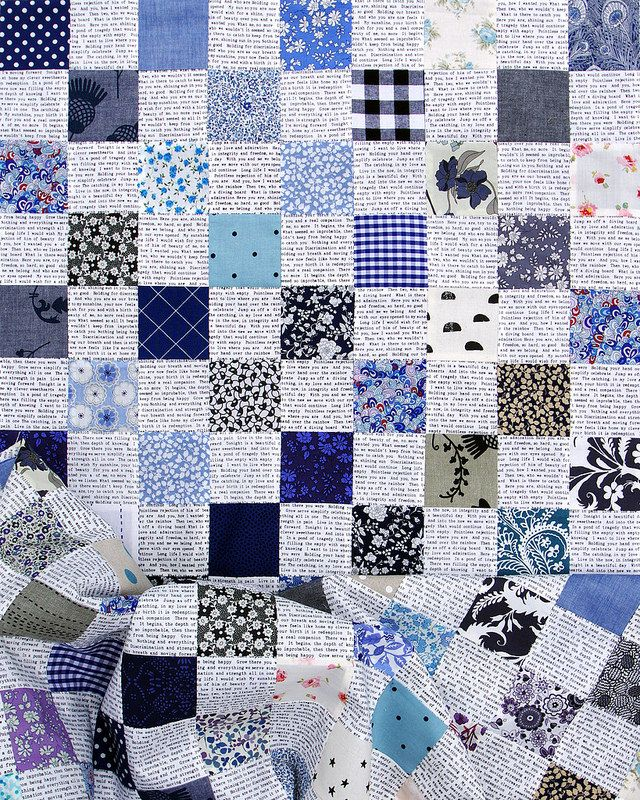 Liberty Blues Checkerboard Quilt | © Red Pepper Quilts 2016