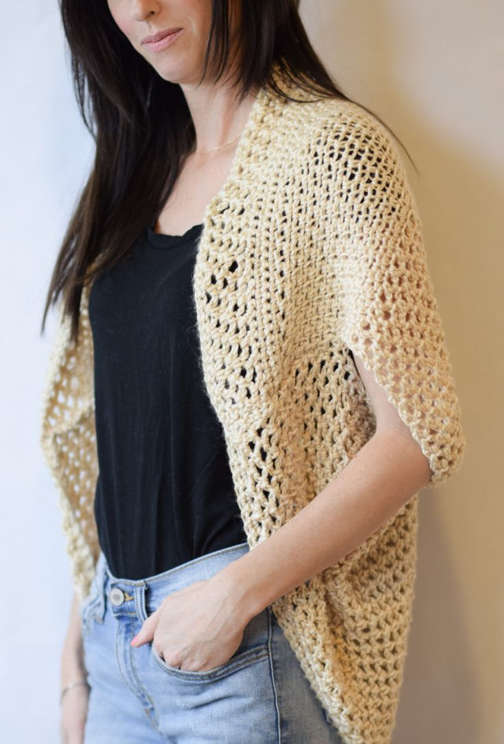 Crochet Shrug Sweater-use measurements, and maybe knit, because it is just a rectangle