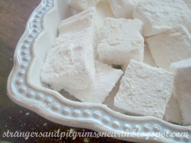 Strangers & Pilgrims on Earth: Making Marshmallows ~ A Sweet Treat
