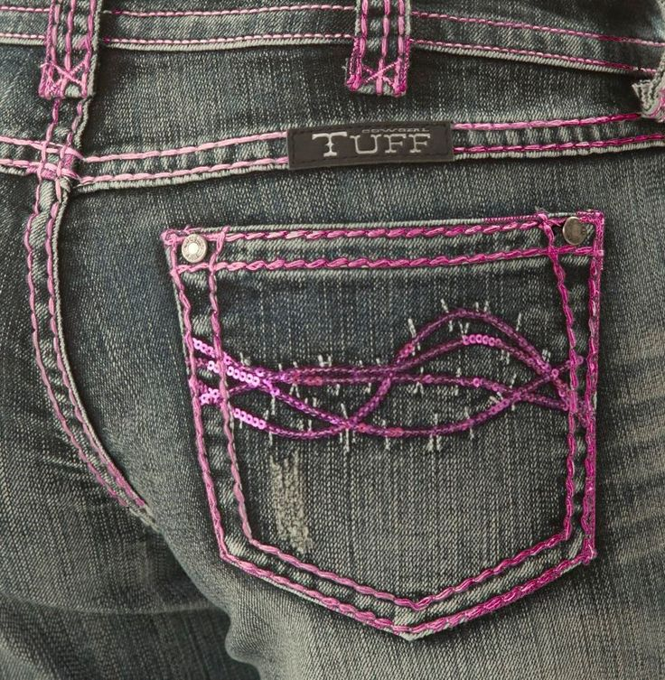 Just Arrived ~ SIZE 34 ~ Cowgirl Tuff PINK SPARKLE CAPRIS ~ jeans sequins #CowgirlTuff #CapriCropped