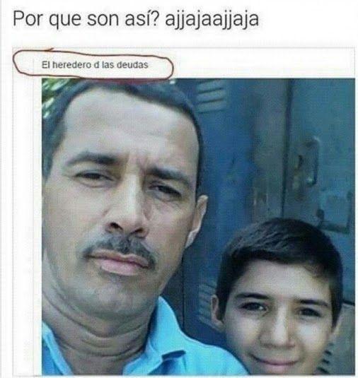 Cuando la herencia que te deja tu padre son solo deudas :'v Para más imágenes graciosas visita: https://www.Huevadas.net #meme #humor #chistes #viral #amor #huevadasnet