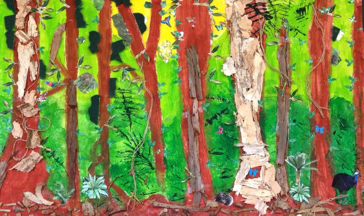 """""""Where the forest meets the sea"""" collage. Rainforest. Sustainability"""