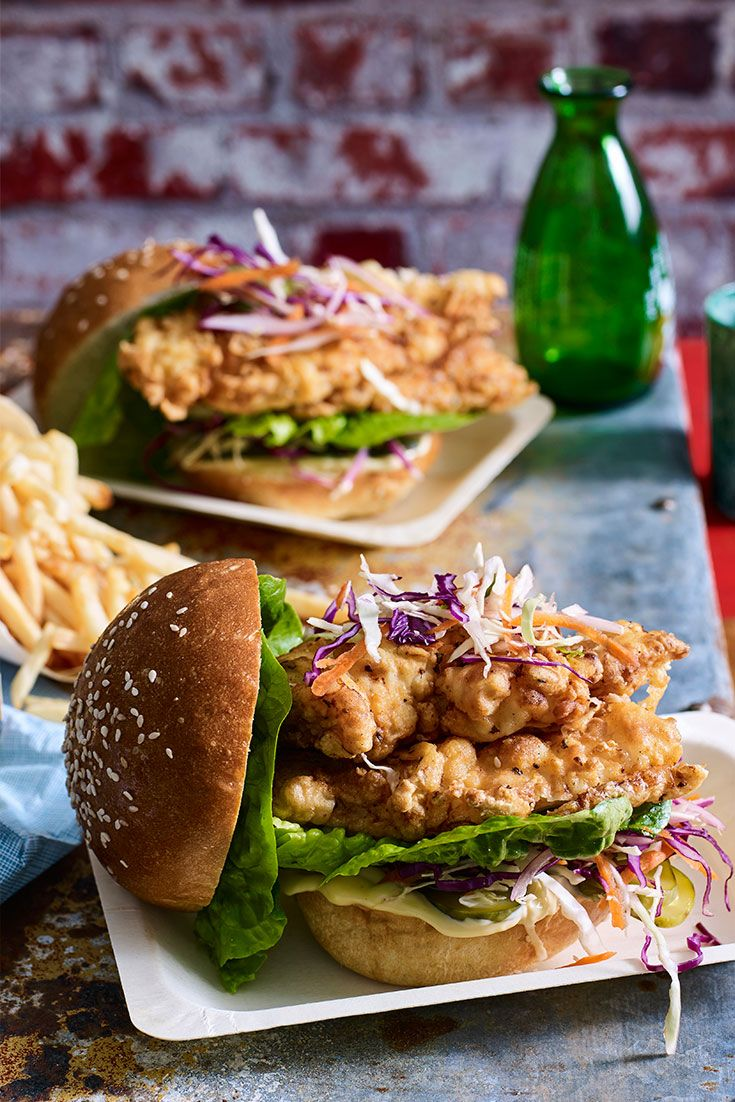 Serve the ultimate crispy crunchy chicken burger this grand final day using this recipe by Lilydale