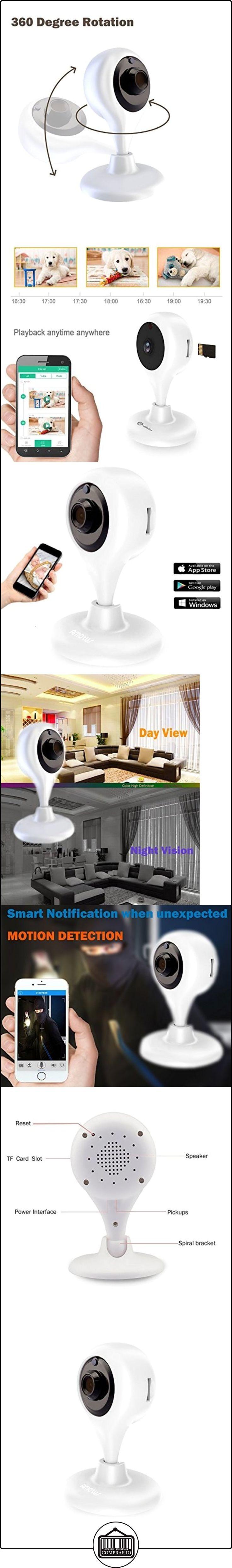 Cámara IP inalámbrica, Amotus hogar vigilancia cámara interior noche visión 2 vías audio cam con visualización remota del detector de movimiento y monitor de bebé para PC smart-phone  ✿ Vigilabebés - Seguridad ✿ ▬► Ver oferta: http://comprar.io/goto/B01J3CTBIM
