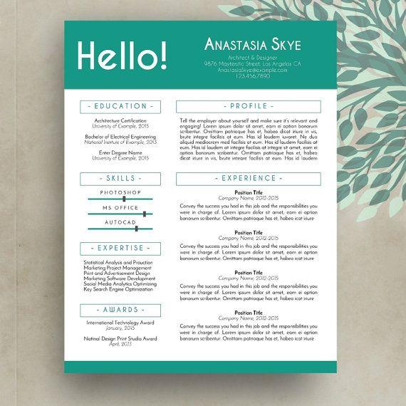 35 best Resume   CV Templates images on Pinterest Cv template - resume cv templates