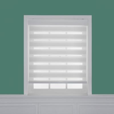 HDC - Store à enroulement zèbre diaphanes blanc filtres de lumière, taillée sur mesures de 33 po x 72 po - ZEB-3372W - Home Depot Canada