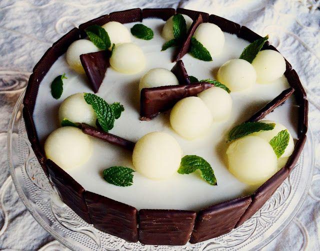 Τούρτα πεπόνι με After Eight σοκολάτα