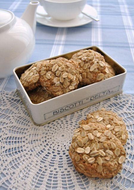 Biscotti con fiocchi d'avena