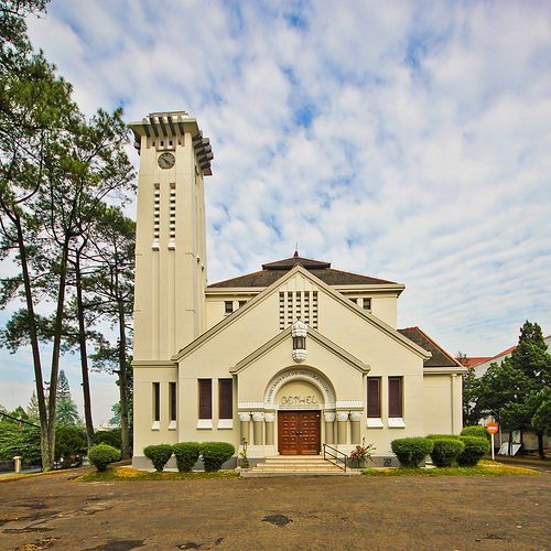 My grandparents were married in this church  / Bethel Church at 1 Jalan Wastukencana, Bandung, Indonesia.