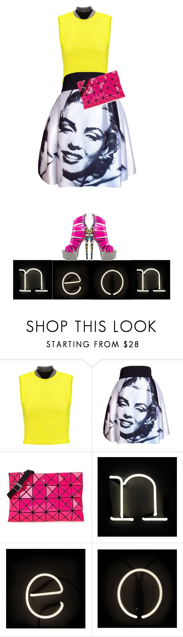 """Neon Marilyn"" by juliehalloran ❤ liked on Polyvore featuring Alexander Wang, Dolce&Gabbana, Bao Bao by Issey Miyake, Seletti and Nelly Bernal"