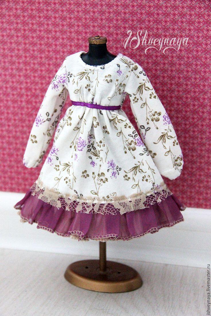 Купить Платье для куклы Bjd рост 34 см - сиреневый, платье для куклы бжд, бжд