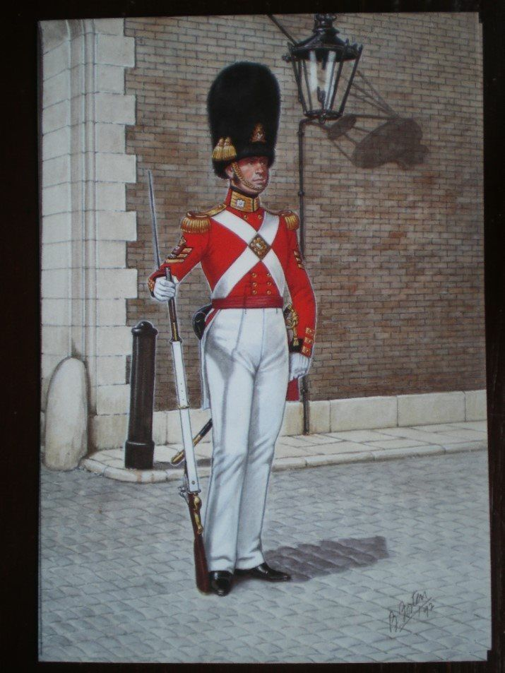 British; The Scots Guards, Colour Sergeant, 1832 by B.Fosten