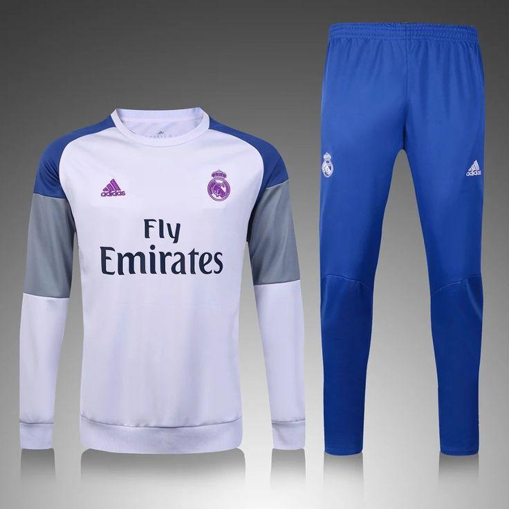 Real Madrid 2016/17 White Men Tracksuit Slim Fit