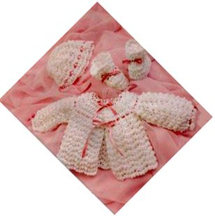 FREE Crochet Baby Sweaters Pattern. Crochet a baby sweater with ribbon from this free pattern.