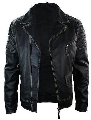 Motorcycle Brando Black Bikers Punk Vintage Leather Jacket