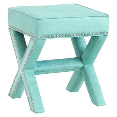 This versatile and comfyX-Frame Ottoman Stool a must-have in any room – whether used as a footrest, ottoman or extra seating. It also works well at the foot of the bed or in the bath as a great ge...