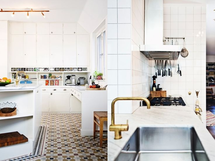 Star lights in copper by Jonas Bohlin for Örsjö in this kitchen featured on La Maison d'Anna G
