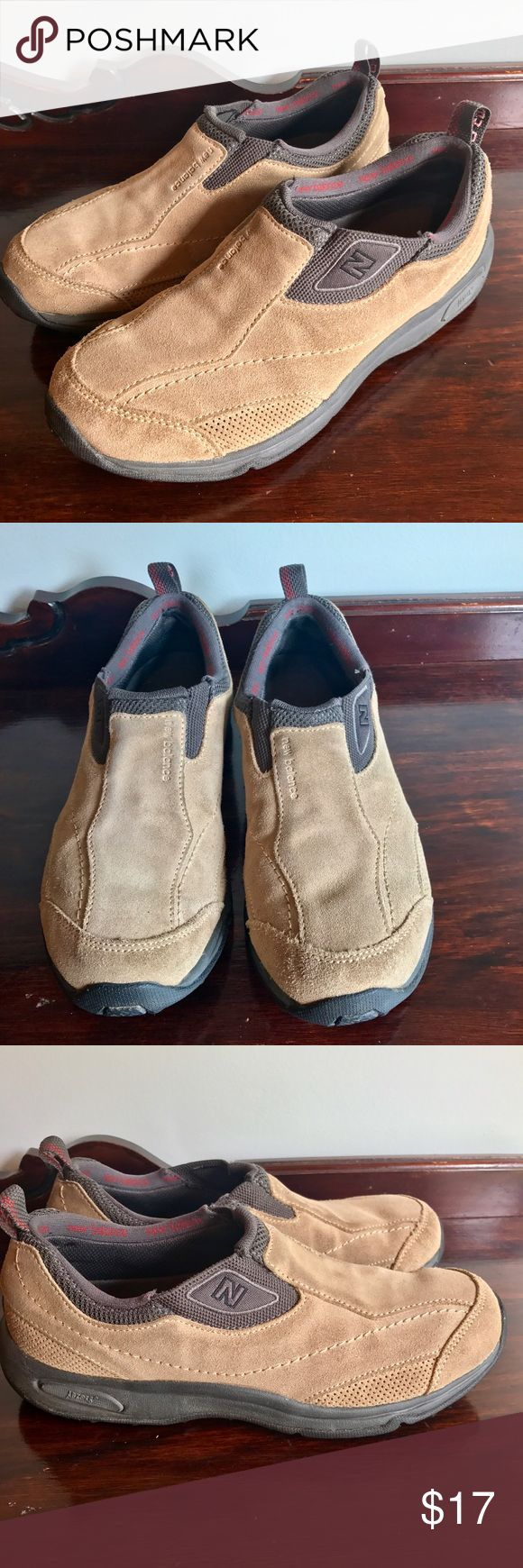 NEW BALANCE 640 Abzorb Slip On Womens Nubuck Shoes NEW BALANCE 640 Abzorb Slip On Womens Nubuck Size 9 Hiking Walking Shoes Have some wear spots on heels. See pics New Balance Shoes Athletic Shoes