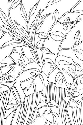 Examples of motif Free Sketch Graphic Design Pattern Jungle Tropical 1, Zentangle, Sketch Drawing