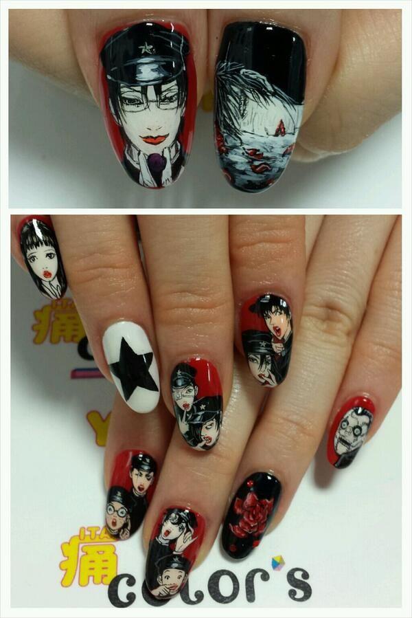 ライチ☆光クラブ : Character nail art