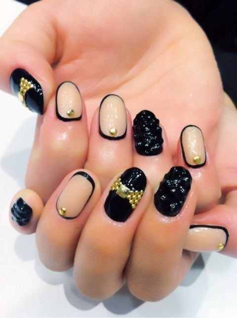 27 best ugly nails images on pinterest astroturf beauty nails black gold and nude nail design nail designs nail art nail ideas nail fashion womens fashion fashionista prinsesfo Images